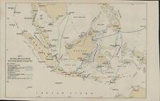Map WW2  Japanese Strategic Plan Netherlands East Indies Regiments  C6.1130