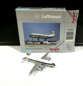 Herpa 511780 Lufthansa 1:500 scale Vickers Viscount 814 model air plane flugzeug