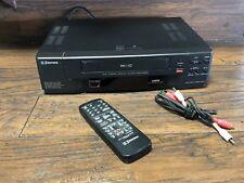 22441 Emerson 4 Head VCR VHS Video Cassette Player Recorder w Remote 4003 Cables