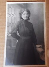 Postcard Lady Studio shot young Pretty long dress Edwardian fashion unposted