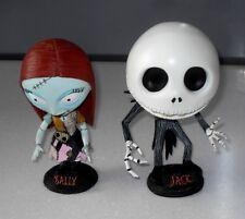 Rare Neca Large The Nightmare Before Christmas Jack & Sally (Free) Bobble Heads