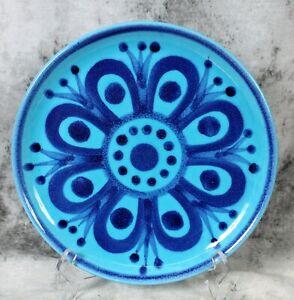 Vtg John Ffrench JFF Blue/Turquoise Design Plate Arklow Studio Pottery Ireland