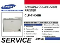 Samsung CLP-510 XBH 510 CLP 510N color laser printer Service Repair Manual PDF