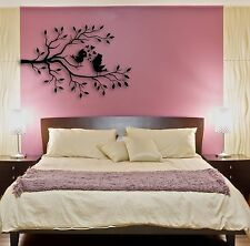 Wall Stickers Vinyl Decal Birds Tree Hearts Romantic Cool Decor (z1585)