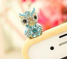 Patron saint blue owl Anti Dust Plug Cover Stopper Charm for iPhone 5 4/4s