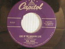 Yma Sumac 45 LURE OF THE UNKNOWN LOVE bw VIRGIN OF THE SUN GOD   VG+ to  VG++