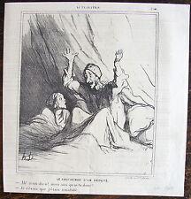 DAUMIER, LITHOGRAPHIE ORIGINALE, ACTUALITES N° 254 / CAUCHEMAR DE DEPUTE