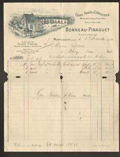 """MONTLUCON (03) USINE de GALOCHES / CUIRS & PEAUX  """"BONNEAU & PINAGUET"""" en 1910"""