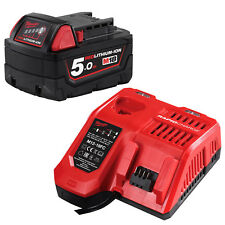Genuine Milwaukee 18V Lithium Cordless M18 Battery Rapid Charger Set - AU STOCK