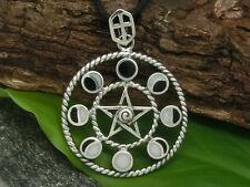 Pentagrama FASES DE LA LUNA COLGANTE PLATA DE LEY 925 LUNA