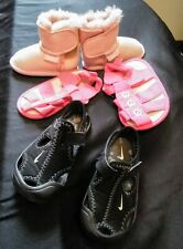 """Baby Girl Shoes 3x Pairs (ALL AS NEW) """"Nike"""" & """"baby baby"""" Sandals, """"EMU"""" boots"""