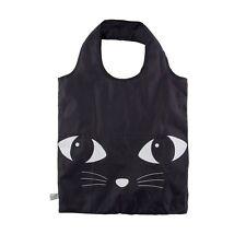 Sass & Belle Foldable Black Cat Shopping Bag Reusable Tote Eco Friendly SHOPPER
