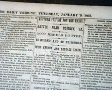 Romney West Virginia Confederate Military Expedition Civil War 1862 Newspaper