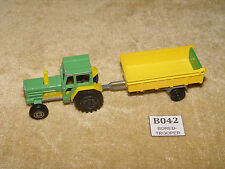MAJORETTE 208 TRACTOR TRACTEUR 1:65 SCALE & 21160 TIPPING TRAILER VINTAGE RARE