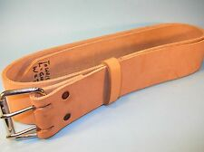 """X-LONG 2 1/2"""" Wide NATURAL COWHIDE LEATHER BELT  w/ 2-Prong BUCKLE for TOOLING"""