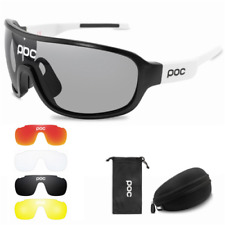 POC Cycling Biker Glasses Sunglasses UV400 Polarized Glasses W/ 4pc Replace Lens