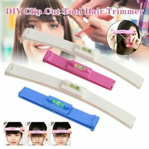 DIY Professional Bangs Hair Trim Cutting Clip Comb Hairstyle Typing Tool Crea JL
