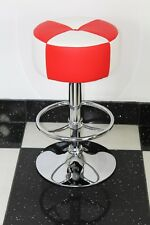 American Diner Retro Style Round  Stool Chair Furniture Kitchen Red