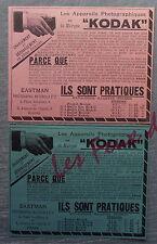 Publicité KODAK APPAREILS PHOTO EASTMAN PHOTOGRAPHIC  advert 1898