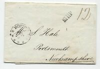 1807 Boston MA incoming stamples ship cover to NH [5246.538]