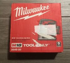 Milwaukee 2645-20 M18 18V 2700 SPM Cordless Lithium-Ion Jigsaw Bare Tool New