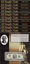 """2003A $2 Bill BEP 10 Note District Set Serial # """"2009"""" Issue OGP"""