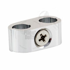 Silver Brake Line Spacer Universal Motorcycle Organizer Throttle Cable Clamp