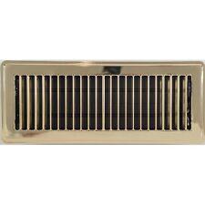 Polished Brass Metal Louvered Heating Floor Vent Register 100x300mm