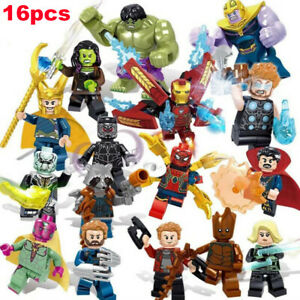 16pcs Marvel Super Heroes Fit Lego Avengers Infinity War Mini Figure Man Hulk AU