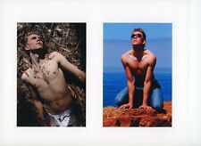 """Swedish model """"Valter"""" Male Nude Gay Interest Photo Art Two Images In One"""