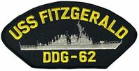 USS FITZGERALD DDG-62 PATCH USN NAVY SHIP ARLEIGH BURKE CLASS DESTROYER CRASH