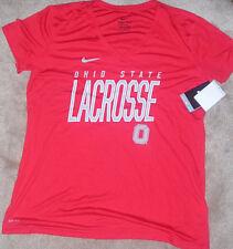 NEW NIKE Ohio State Buckeyes Womens Ladies Lacrosse XL Dri Fit T Shirt NWT