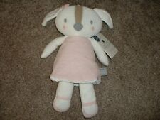 Living Textiles Plush Rory Puppy Knit Baby Toy Rattle Girls Pink FLAW NWT VHTF
