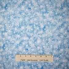 Christmas Fabric - Holiday Accents Lite Blue Tonal Snowflake Blender  - RJR YARD