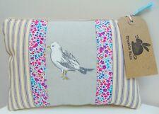 Handmade Seagull Makeup Bag, made with Liberty London fabric Sea Birds Zip Pouch
