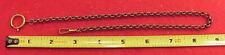 German 15in Belcher Link Antique Brass Civil War Rennactor Pocket Watch Chain