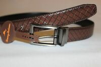Tommy Bahama Men's Reversible Brown Black Leather Belt Sizes 34,36,38 NWT $68