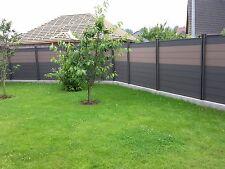 WPC BPC Zaun Sichtschutzzaun Lärmschutzzaun Gartenzaun Zaun inkl. all Zubehör