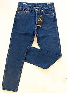 Original LEVIS 501 Men's Classic Jeans Riveted Regular Fit Blue Stonewash Denim