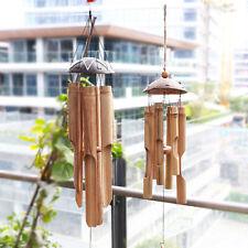 Wood Handmade Bamboo Wind Chimes Big Bell Tube Wind Chime Home Decor Z5y
