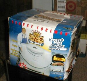 NEW - George Foreman GV5 Lean Mean Contact Roasting Machine Roaster in BOX