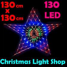 New MULTICOLOUR Low voltage Star Net 130 LED Light Outdoor LED Christmas Light