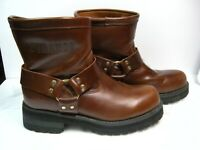 Durango Mens Biker Boots Logger DS194 Size 10.5 E Engineer Brown Leather #53 HS