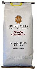 Yellow Corn Grits Hot Cereal Breakfast Vitamin Enriched Packaged Food 25 lb Bags
