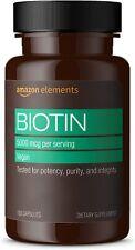 Amazon Elements 5,000 mg Biotin - 130 Capsules - Exp 11/2021
