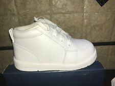 Stride Rite Kicks White Leather Walking Shoes Baby Size 7 Extra Wide