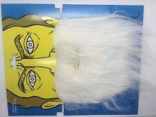White Fake Beard for Fancy Dress Party Witch Wizard Smurf Santa UK
