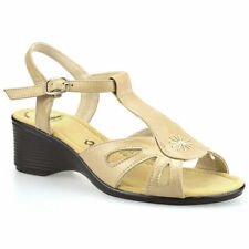 Wedge 100% Leather Wide (E) Casual Heels for Women
