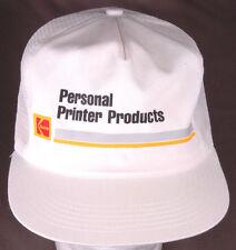 Vtg KODAK Personal Printer Products Trucker Hat-Snapback-Mesh-White-Photo Film..