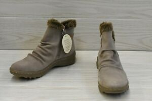 Naturalizer Alisha Leather Ankle Boots, Women's Size 8.5 M, Mushroom NEW